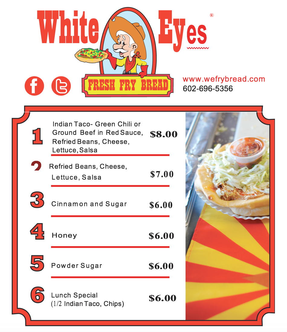 Indian Food Truck Menu